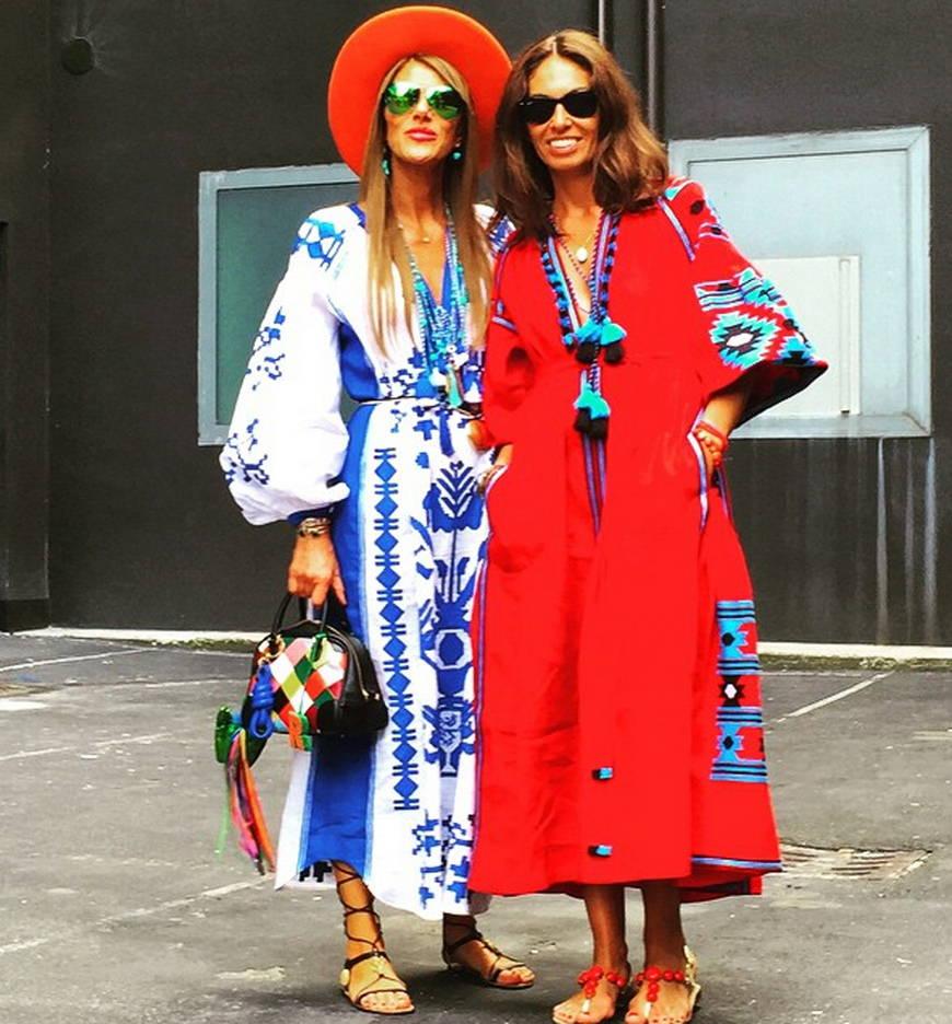 Украинский орнамент платья