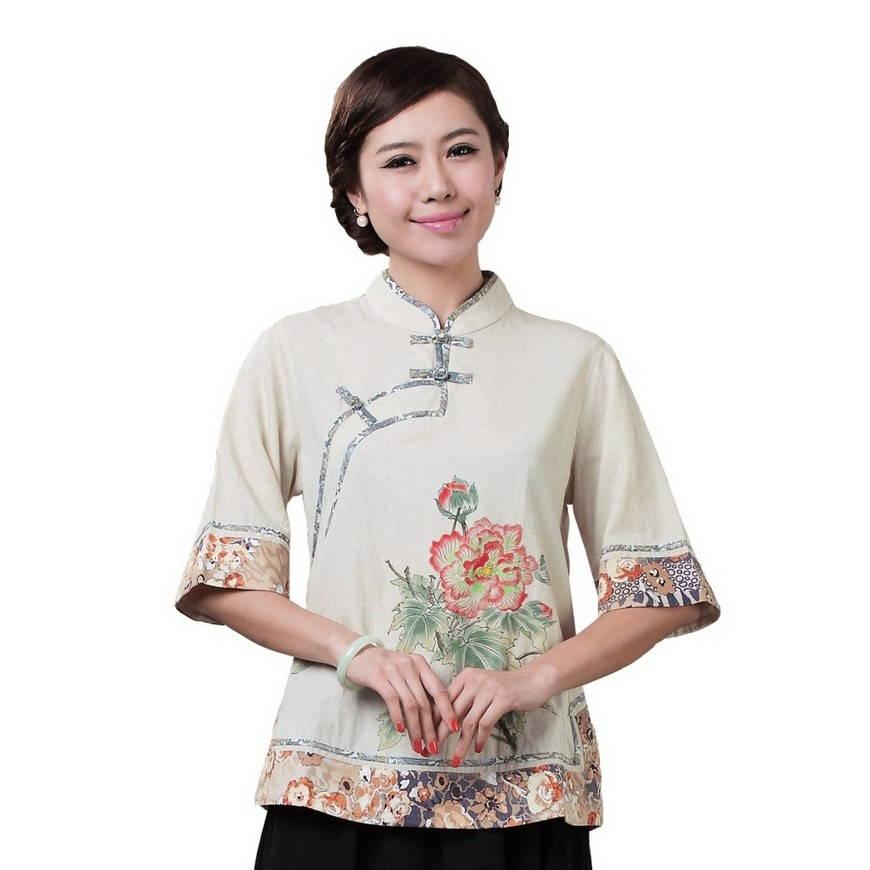 рубашка в китайском стиле