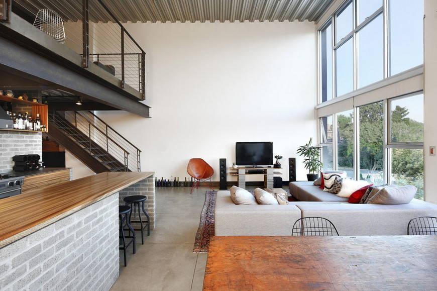 Современная квартира в стиле лофт