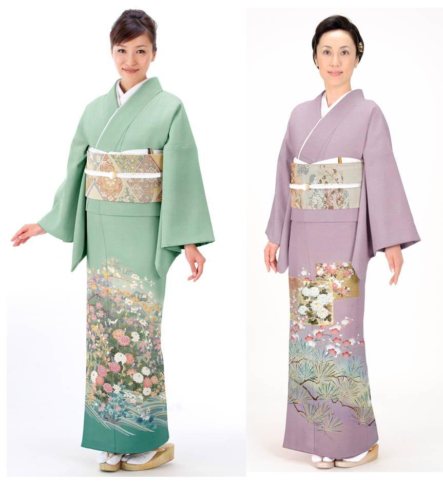 иротомэсоде японское кимоно