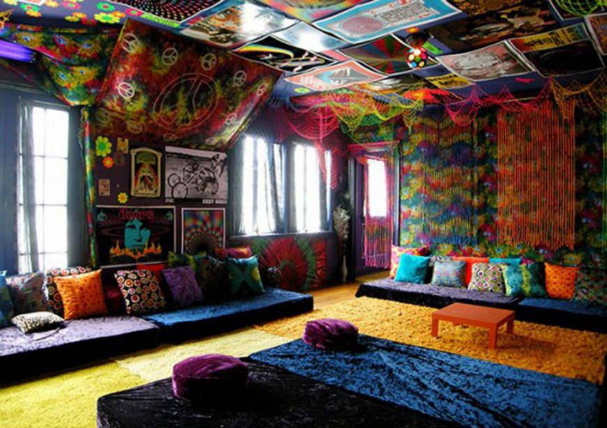 вечеринка хиппи в квартире