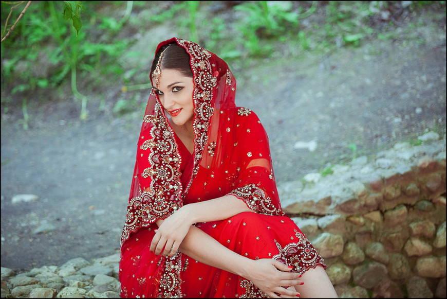 Свадебное индийское сари