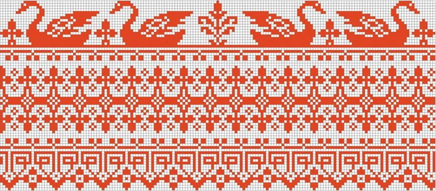 Русский рисунок крестиком