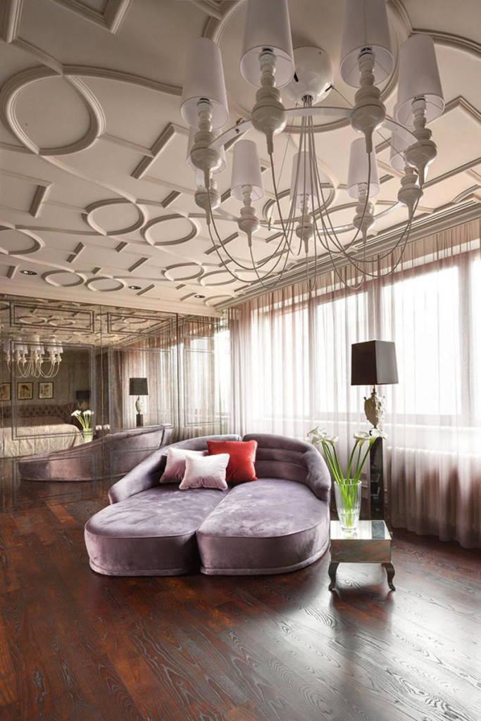 потолок в стиле арт-деко