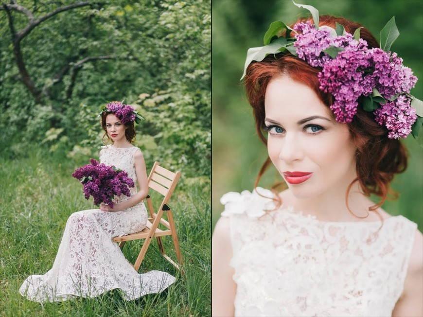 Образ невесты в стиле рустик