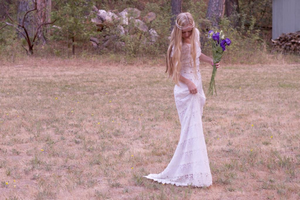 свадьба в стиле бохо-образ невесты