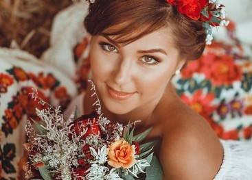 Букет невесты в русском стиле