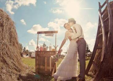 Образ невесты в деревенском стиле