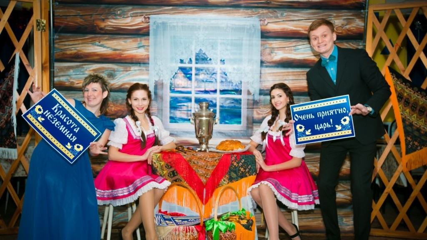 Оформление вечеринки в русском стиле