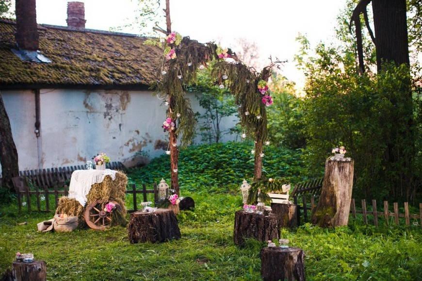 свадьба в стиле рустик -атрибуты