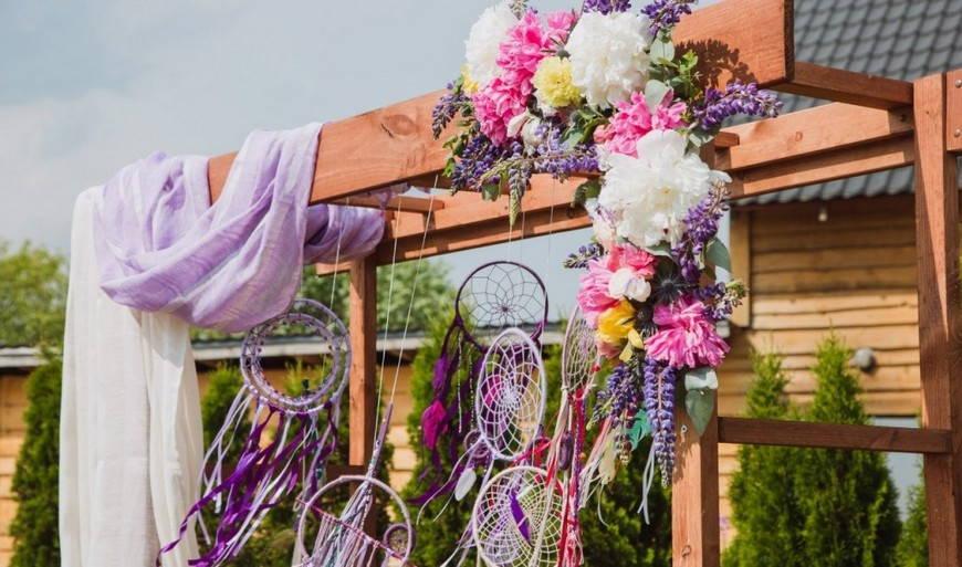 Декор свадьбы в стиле бохо