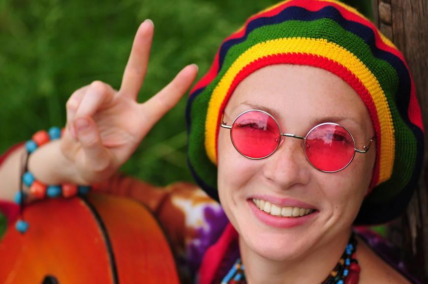 аксессуары хиппи-очки