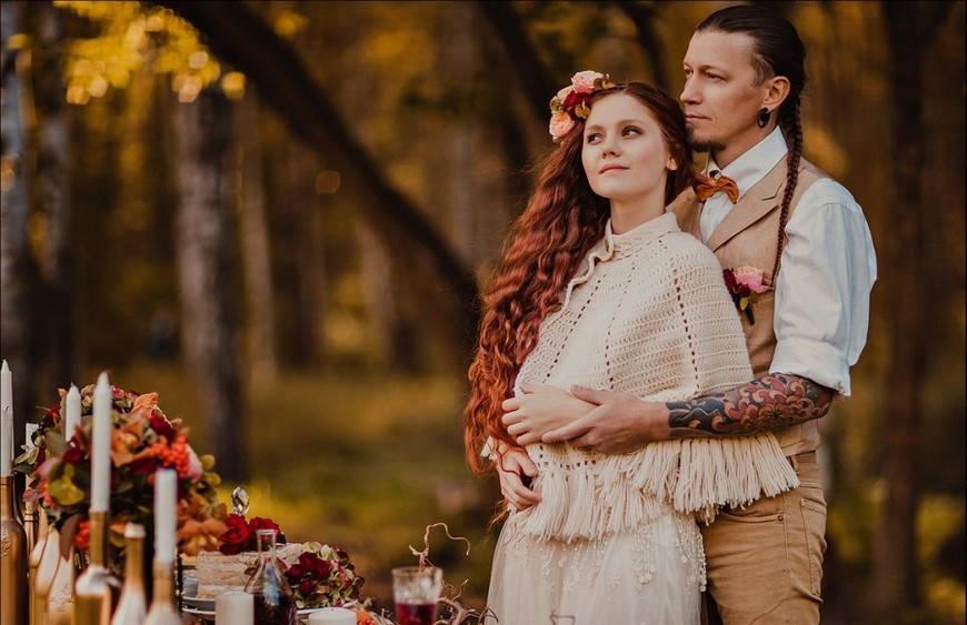 цвета свадьбы в стиле бохо