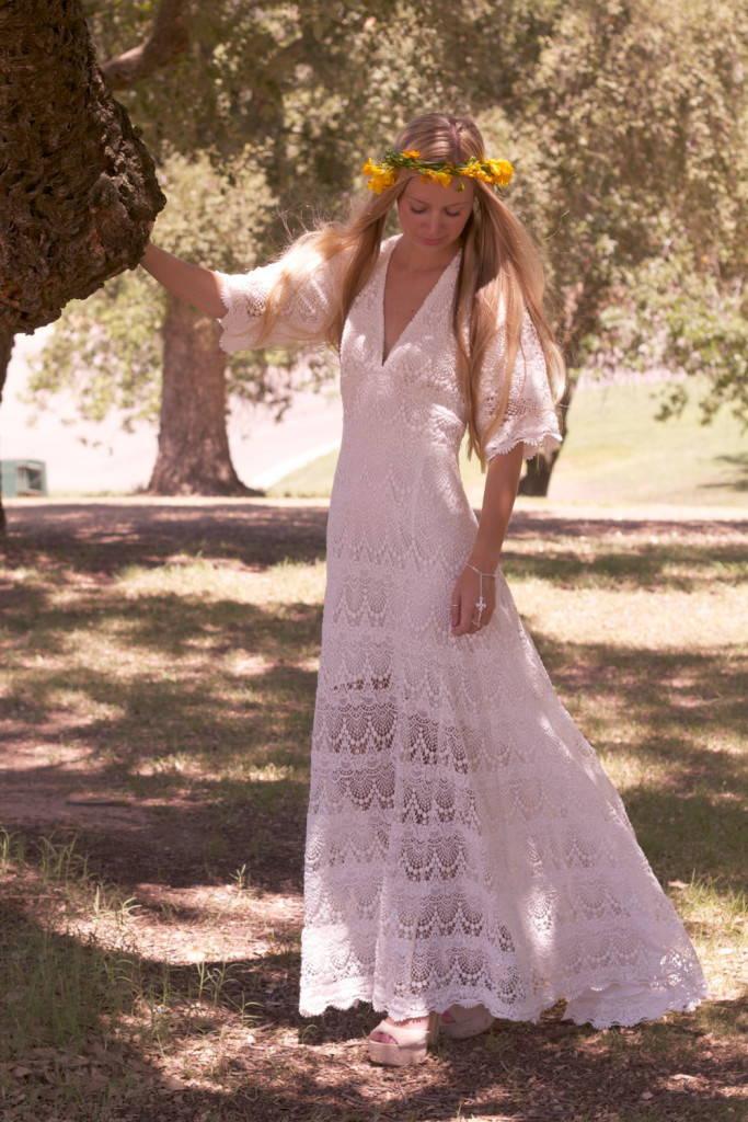 одежда хиппи-платье