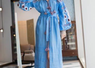 Молодежные платья с украинским орнаментом