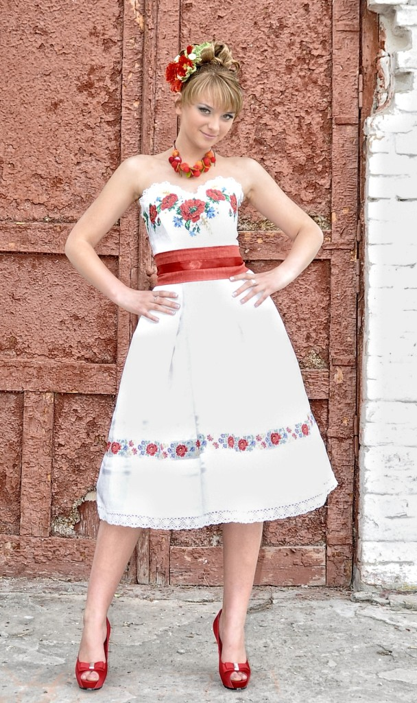 платье с украинскими мотивами