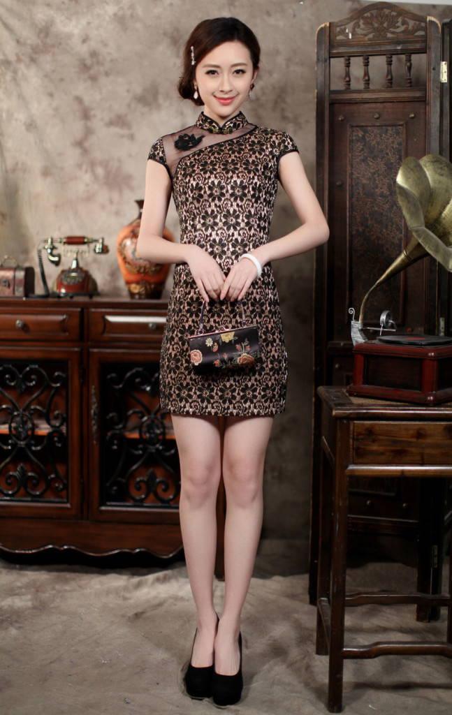современое китайское платье