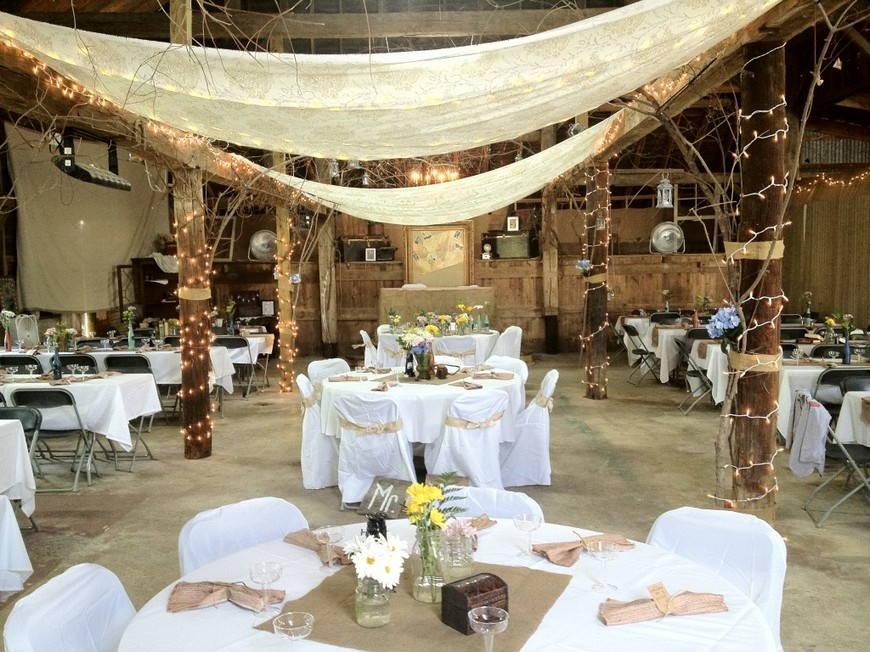 свадьба в стиле рустик-зал