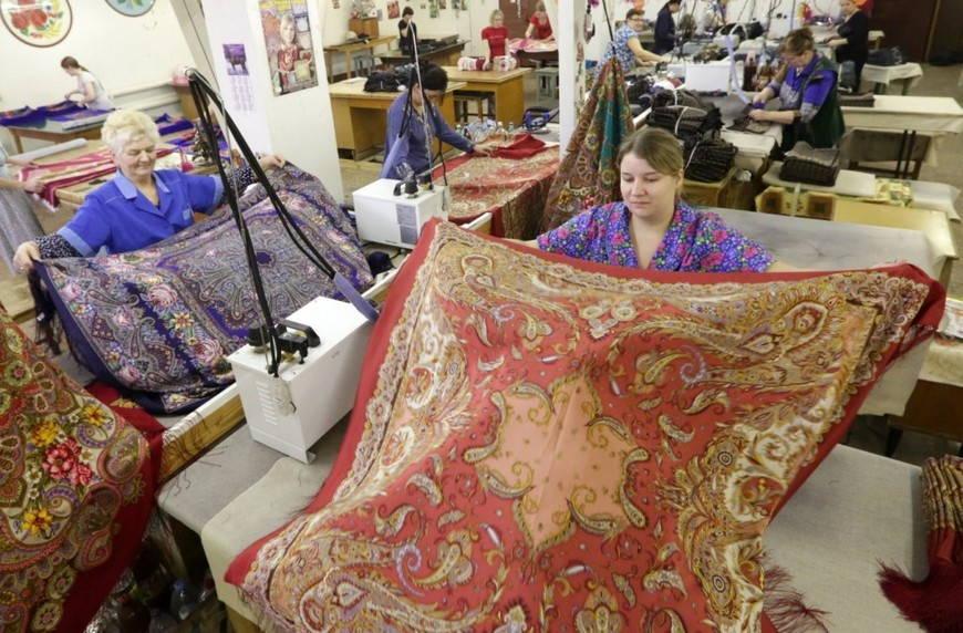 Промышленное производство платка