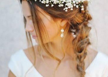 Прическа невесты в стиле рустик