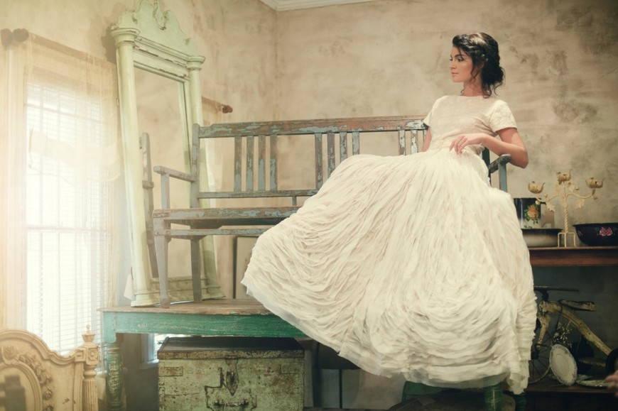 фото невесты в винтажном стиле