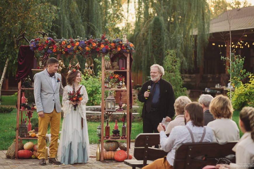свадьба в стиле бохо -это всегда нежность