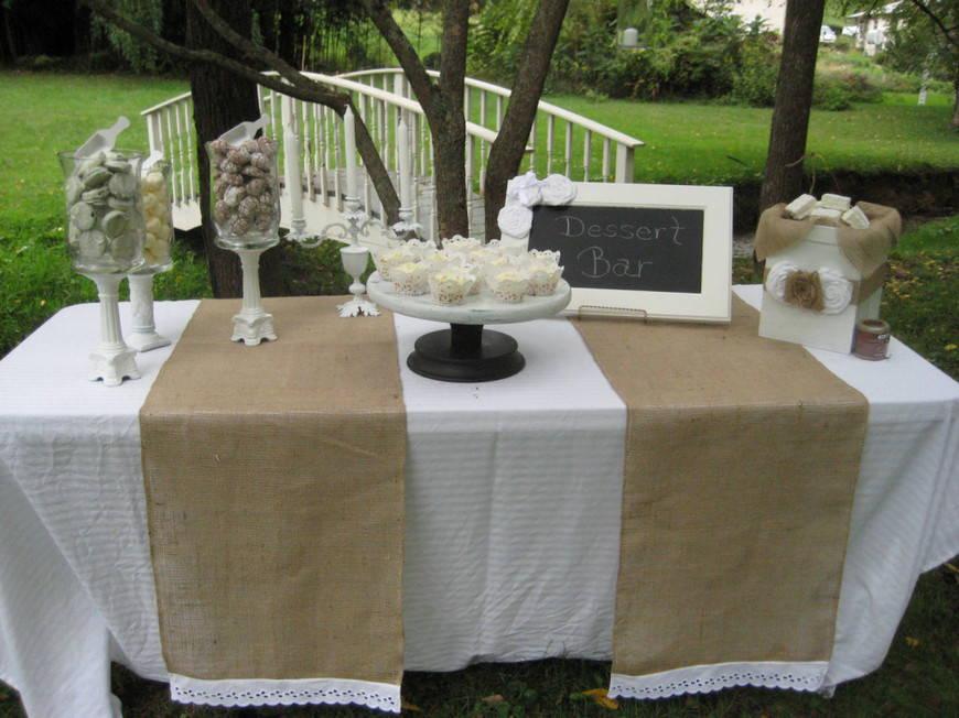 свадьба в стиле рустик-ткани