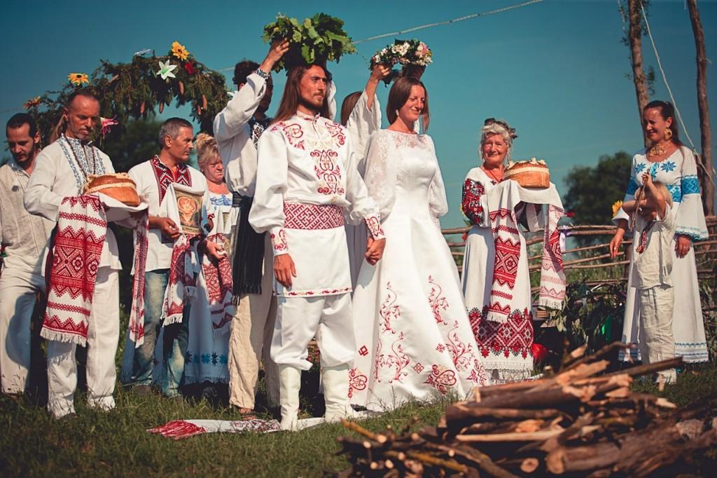 свадьба в древнеславянском стиле