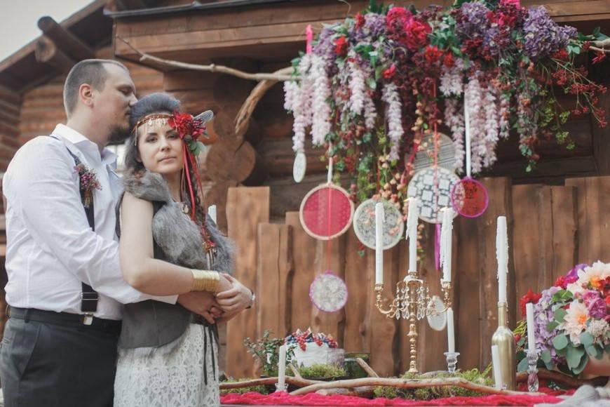 Элегантность свадьбы в стиле бохо