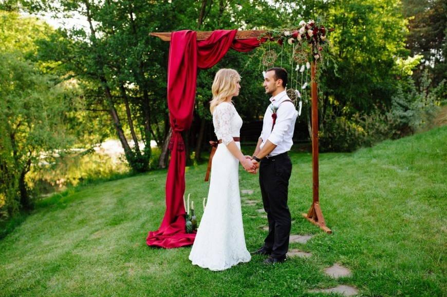 Натуральность свадьбы в стиле бохо