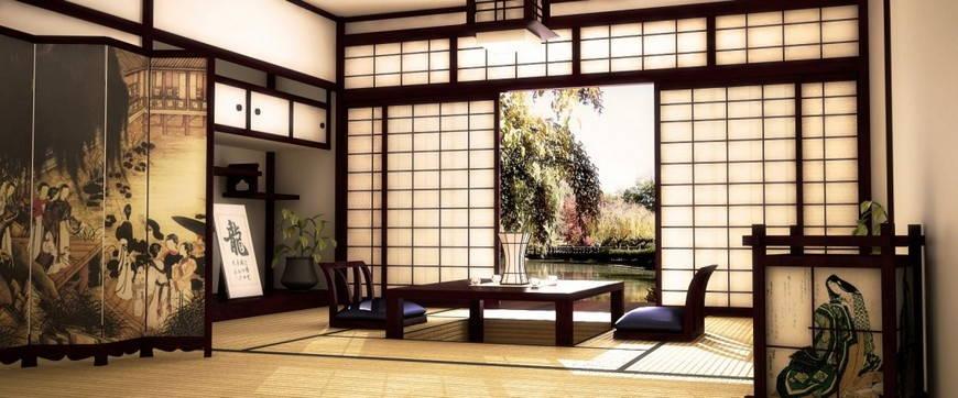 Седзи в японском интерьере
