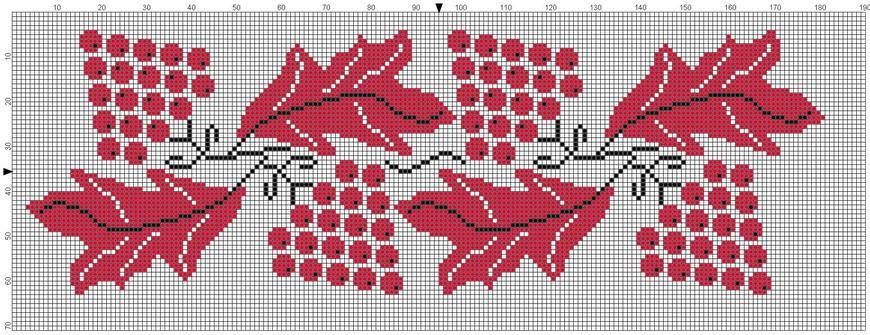 вышивка крестом цветочный узор схемы