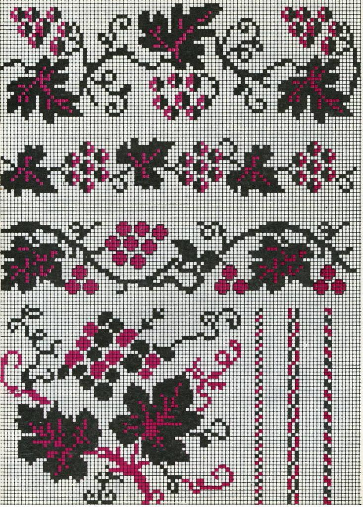 Виноградная лоза-украинская вышивка