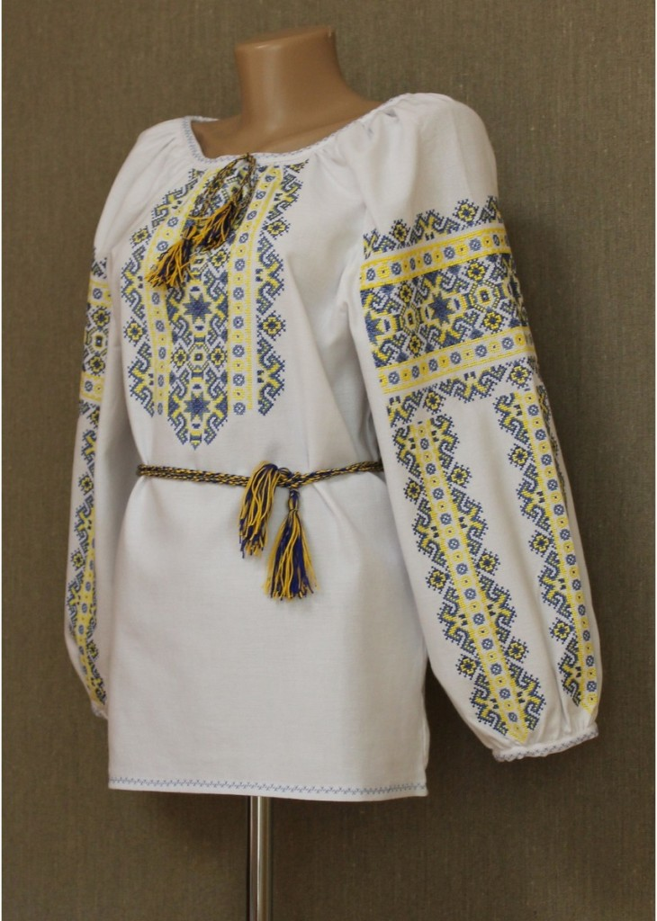 Желтый украинский орнамент
