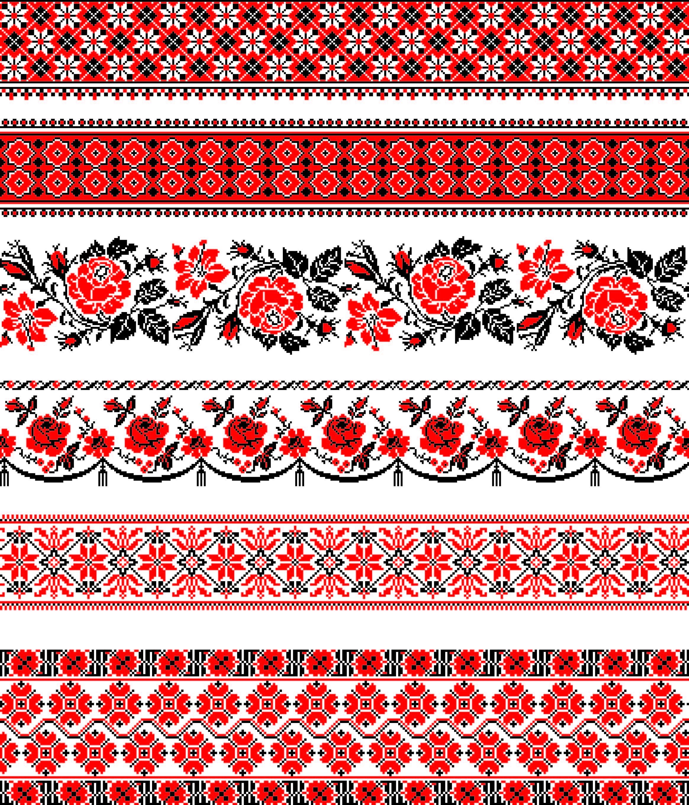 Украинские национальные вышивки