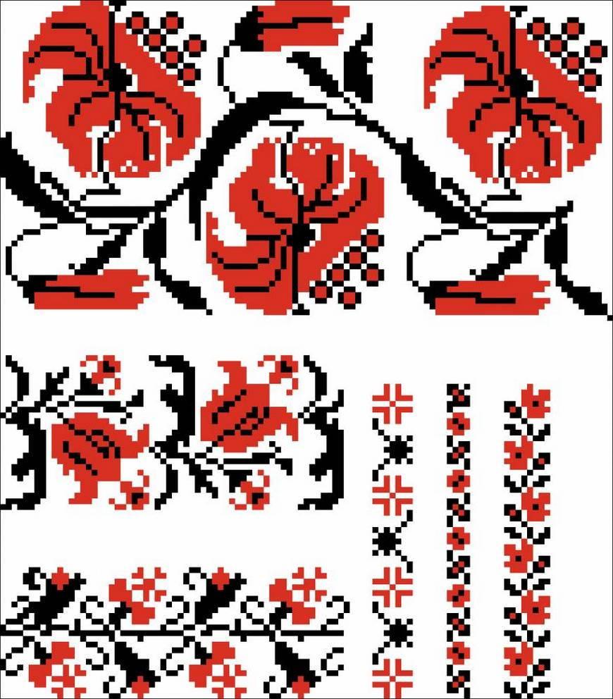 украинский орнамент лилии