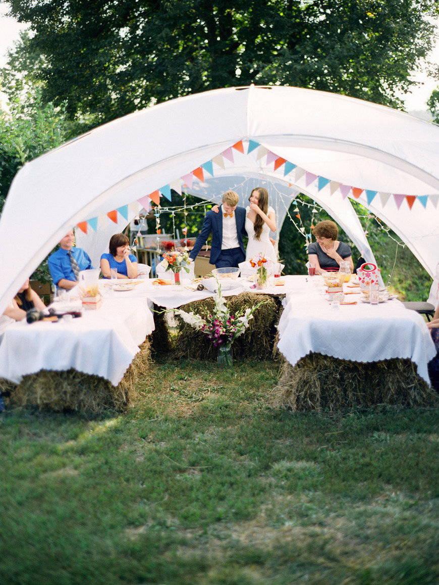 свадьба в стиле рустик- навес