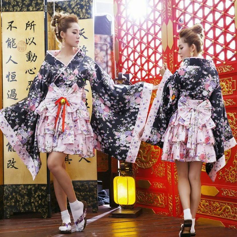Женское короткое кимоно