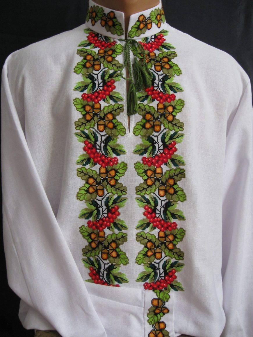 украинская вышивка крестом схема калины