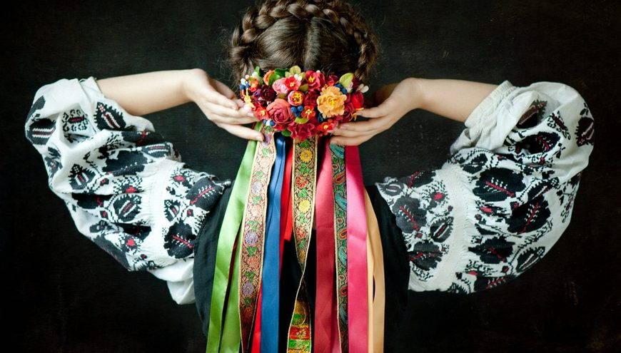 Как сделать украинский венок с лентами на голову своими руками