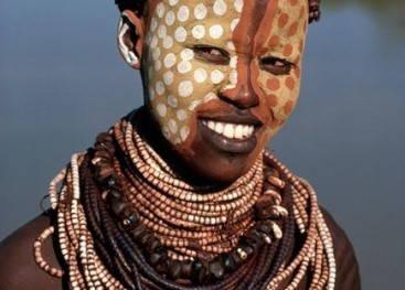 Африканские узоры на теле