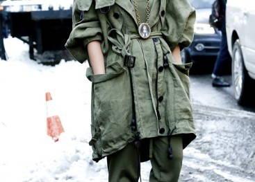 Верхняя одежда в стиле милитари