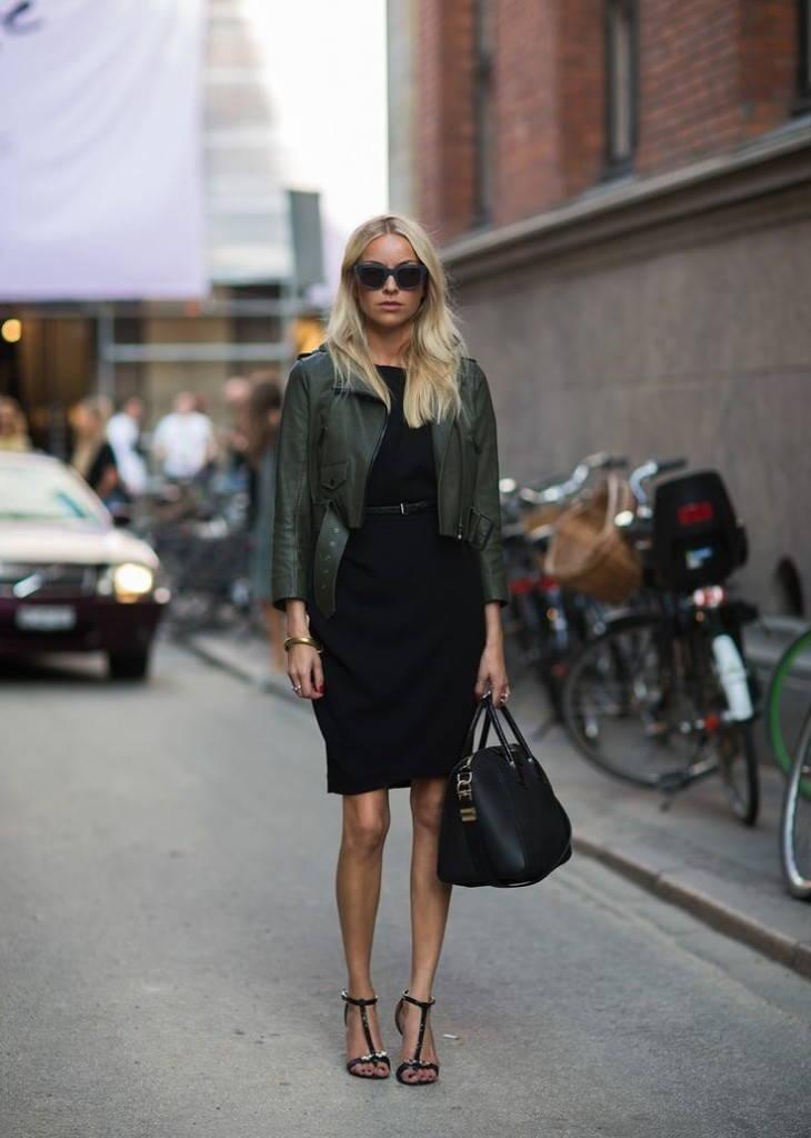 Женская курточка в стиле милитари