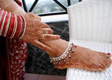 Индийские украшения на разных частях тела
