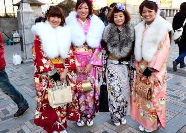 Кимоно на улицах города