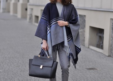 Пончо в уличной моде