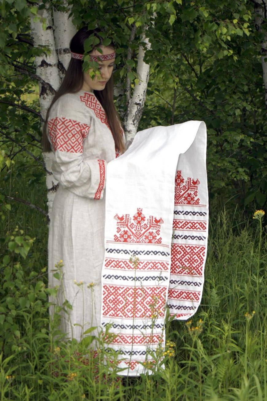 вышивка крестом заказать схему славянские мотивы
