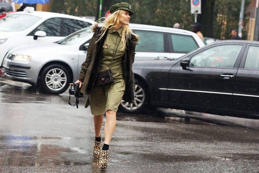 Женский стиль милитари