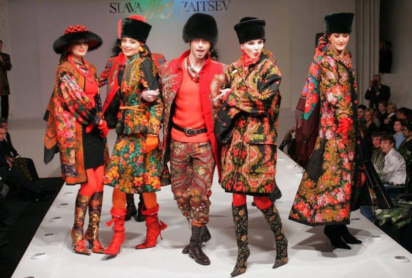 Одежда по мотивам павловопосадских платков