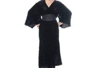 Вязаные кимоно без пуговиц